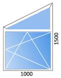 трапециевидное пластиковое окно