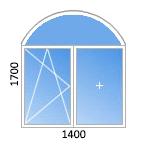 двустворчатое арочное окно