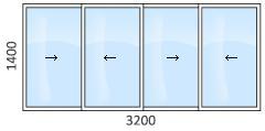 Остекление стандартных балконов и лоджий в домах п-44, п-43,.